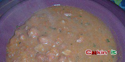Minestra di Fagioli all'emiliana con pancetta.