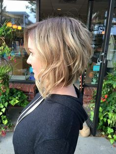 Wavy Inverted Bob on Pinterest