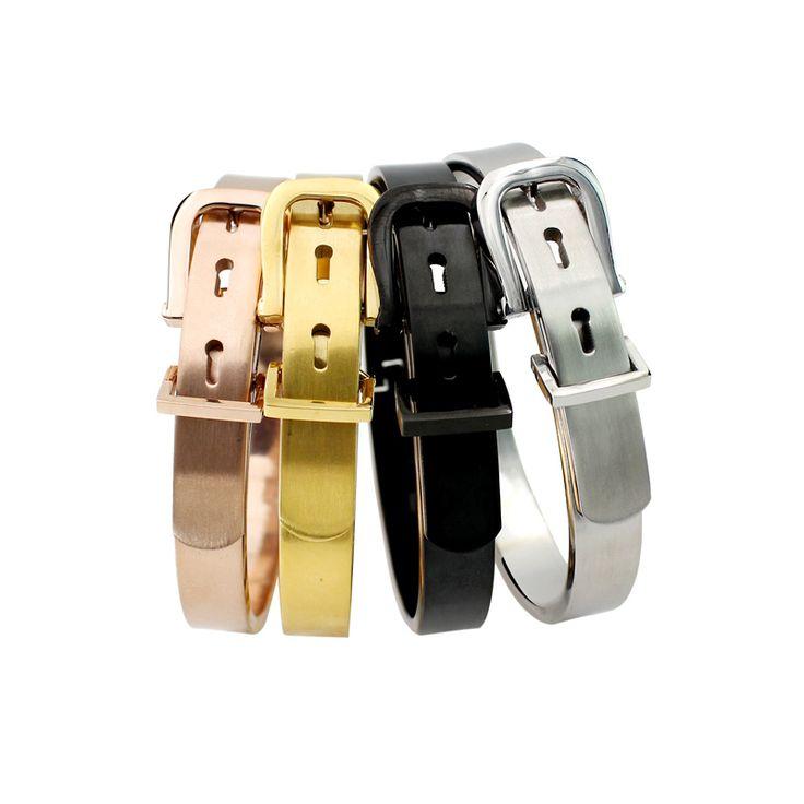 Пояс любви браслет манжетой мужчины женщины роскошные браслеты и браслеты из нержавеющей стали золотые запонки браслет pulseiras купить на AliExpress
