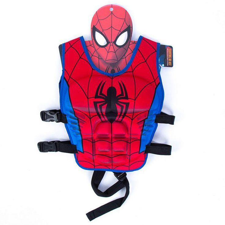 Everest 2017 New Kids 3-7 yrs Life Vest Superman Batman Spiderman Batman  Snow Hulk Costume Spuerhero Swimming Pool Life Jacket