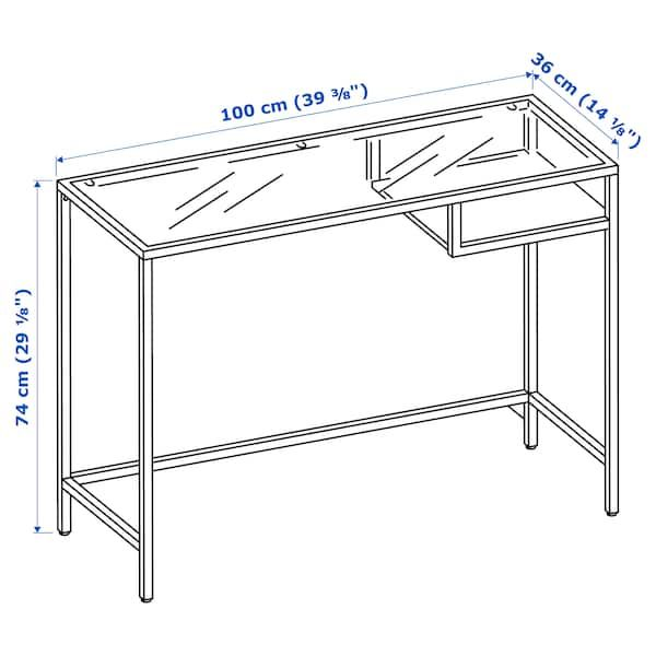 Vittsjo Laptop Table Black Brown Glass 39 3 8x14 1 8 100x36 Cm Table Pour Ordinateur Portable Verre Ikea Ikea