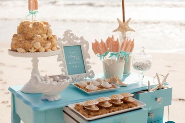 Beach Days Decorating Ideas for a Beach Bridal Shower