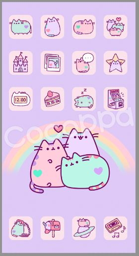 A pusheen phone wallpaper that you can buy on cocoppa for Where can i purchase wallpaper