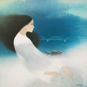 Lovely piece by well known Vietnamese Artist Do Duy Tuan.