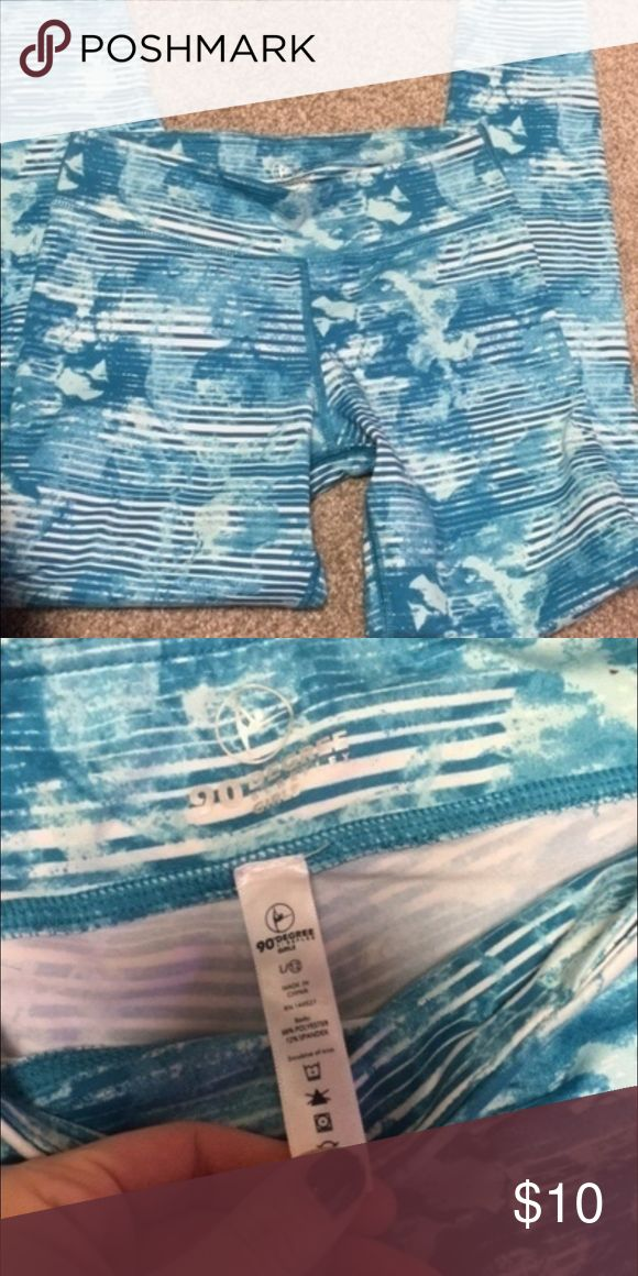 Long to the ankle work out pants Never worn, very soft material. Girls size large but fits women XS or S Pants Track Pants & Joggers