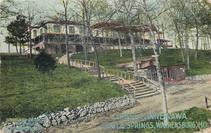 Warrensburg Missouri Pertle Springs Hotel Minnewawa Hilltop Shelter Road 1907 Ebay Show Me Old Johnson County Pinterest