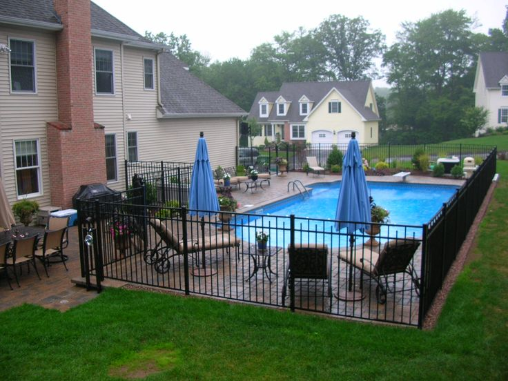 Cozy inground pool landscaping the best inground pool for Backyard inground pool designs