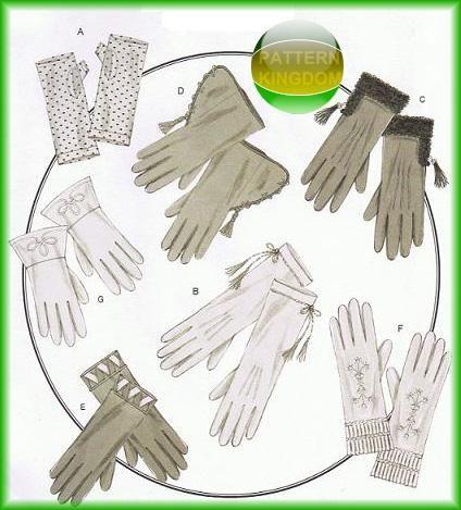 Butterick 5370 Historical Victorian Fancy Dress Glove Patterns