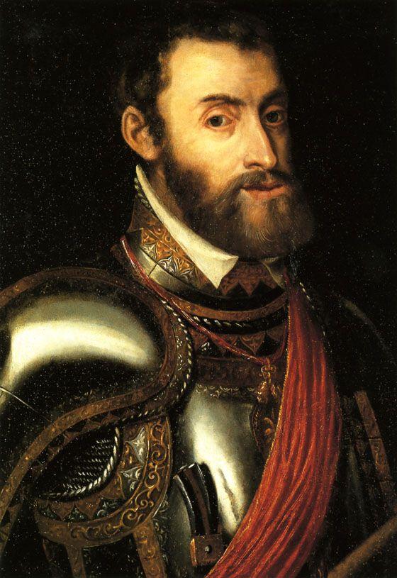 Garcilaso de la Vega, el autor del poema en tanto que de rosa y azucena, entro al servicio de el emperador Carlos V. esta en la foto.