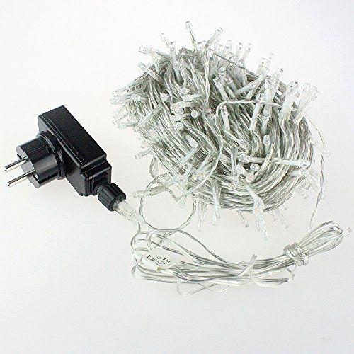 RPGT Noël Guirlande lumineuse LED , 500 Blanc LEDs sur Câble Transparent pour Noël, Sapin, Maison, Fêtes, Mariages, Anniversaire, Nouvel An