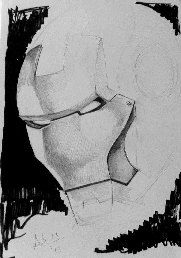 Mask Iron Man Sketch