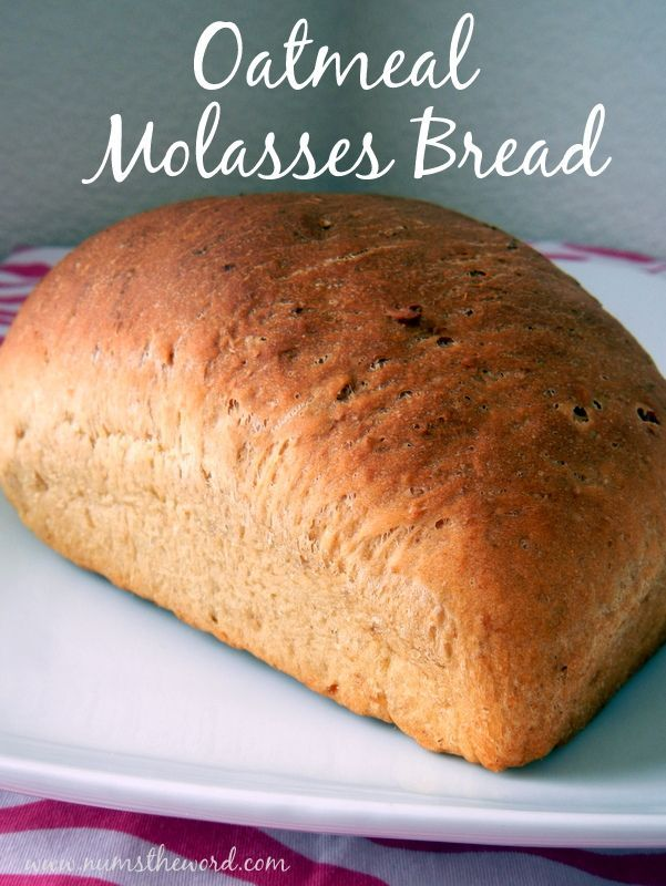 Oatmeal Molasses Bread - Is there anything better than warm homemade bread? I don't think so! This oatmeal molasses bread has simple ingredients and tastes amazing!