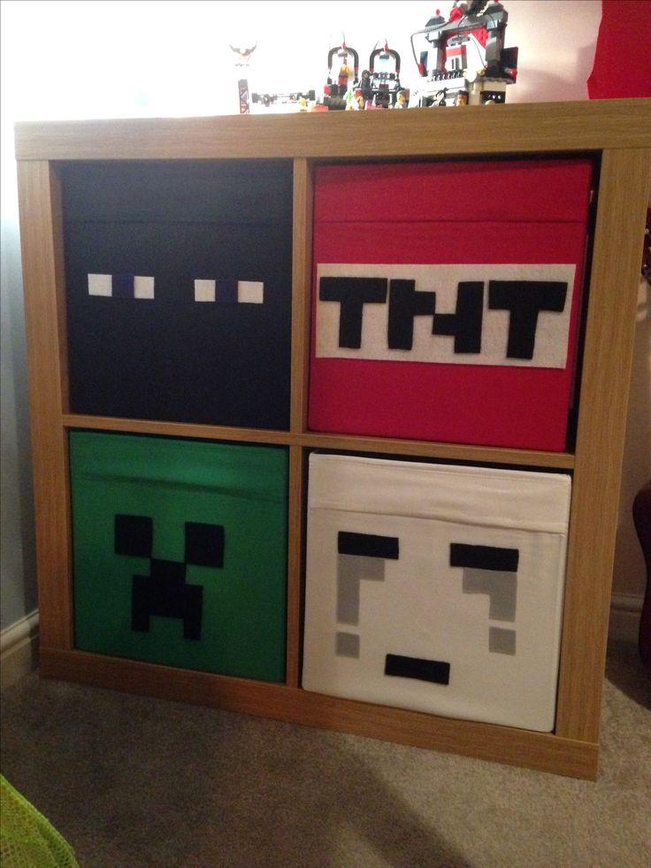 Minecraft bedroom drawers - love ikea hacks!