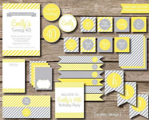 Custom Party Printables / DIY Party Decorations / by MarleyDesign, $34.50