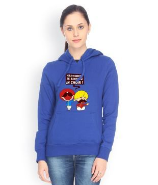 Campus Sutra Blue Cotton - Fleece Non Zippered