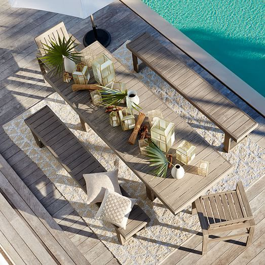 Building Inspiration   Portside Expandable Dining Table   west elmBest 25  Expandable dining table ideas only on Pinterest  . Extendable Outdoor Dining Sets. Home Design Ideas