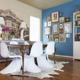 Kristina Wilson Design Houston Center Street Cowhide Rug Gallery Wall