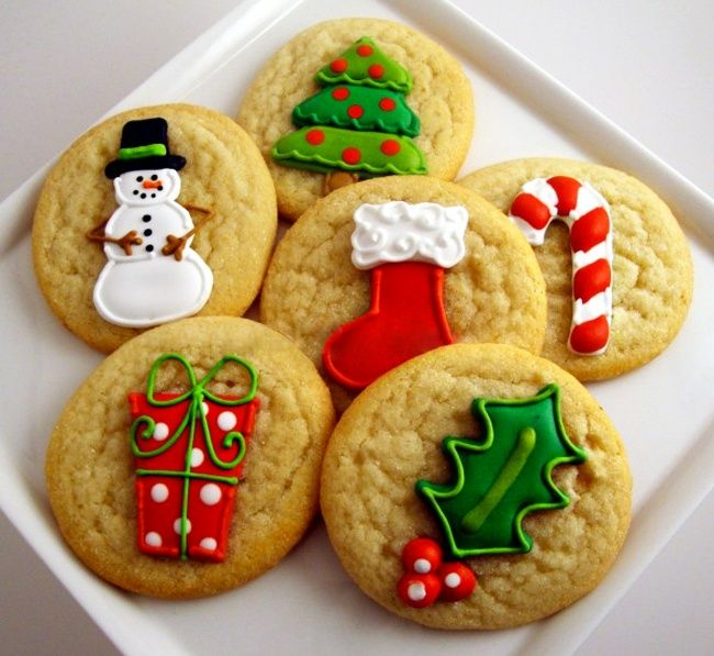 5 recipes glaze for an elegant Christmas cookies - @coutmipo
