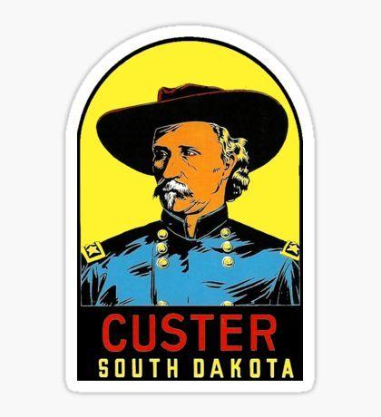 Custer south dakota vintage travel decal sticker