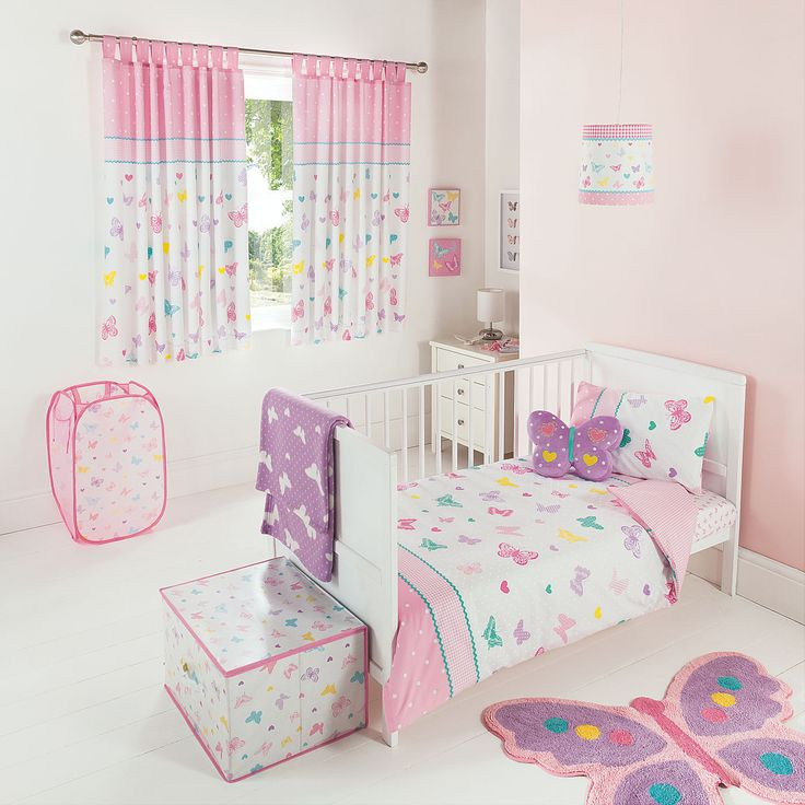 THE Cutest Kids Girls Butterfly Print Toddler Duvet SET Bedding Brand NEW | eBay