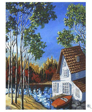 miguel freitas art | Muskoka cottage painting by Miguel Freitas