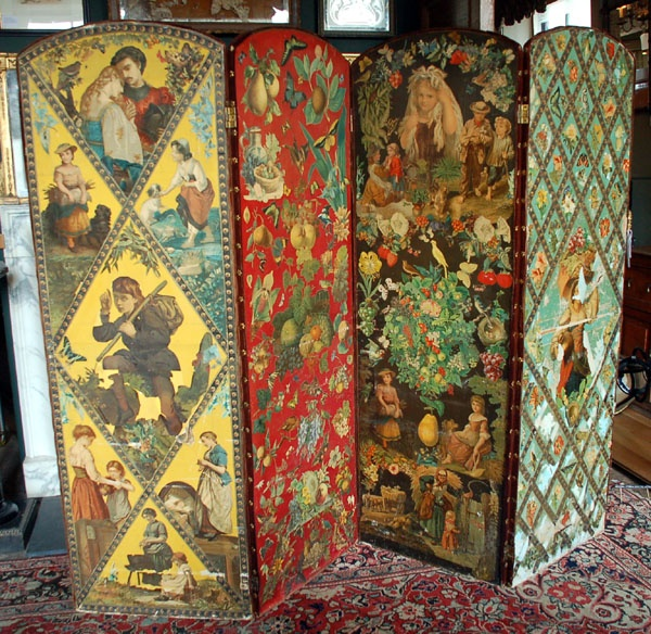 1000 Images About Victorian Decoupage Screens On