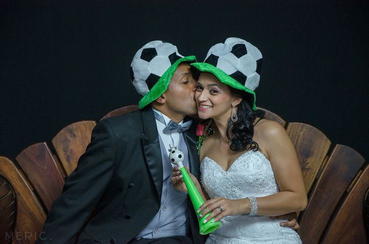 Foto boda fútbol