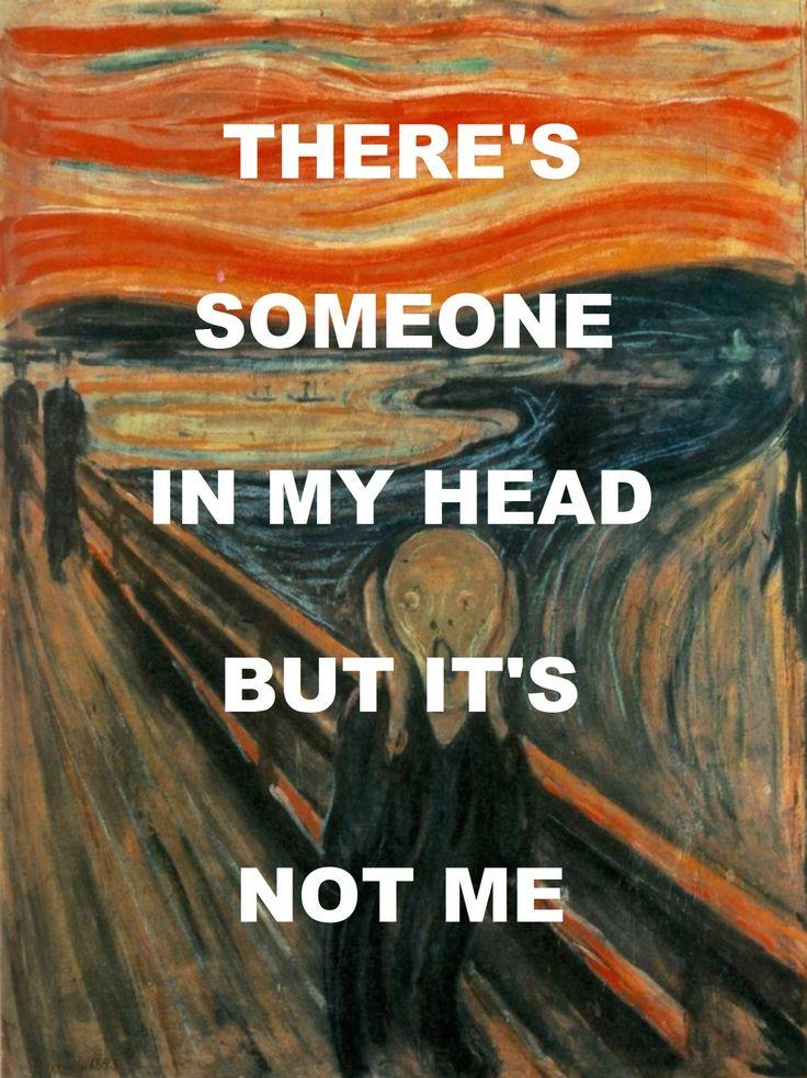 "pinkfloydart: "" Brain Damage - Pink Floyd / The Scream - Edvard Munch """