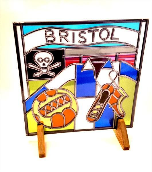 Bristol Rovers Football Glass Gift