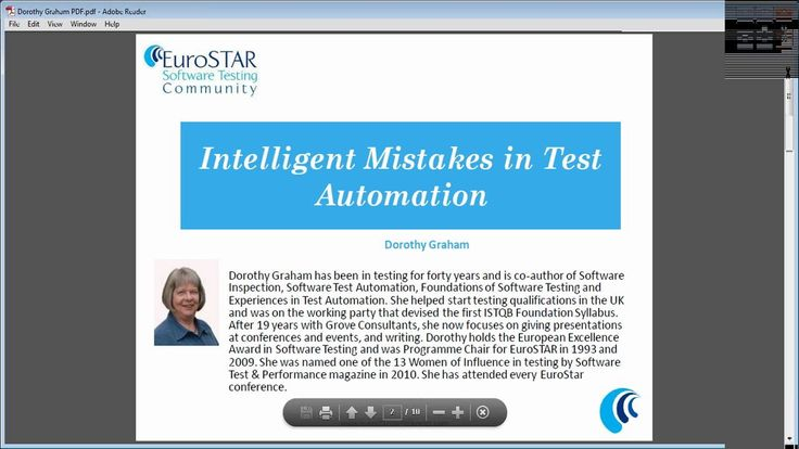 """Intelligent Mistakes in Test Automation"" with Dorothy Graham"