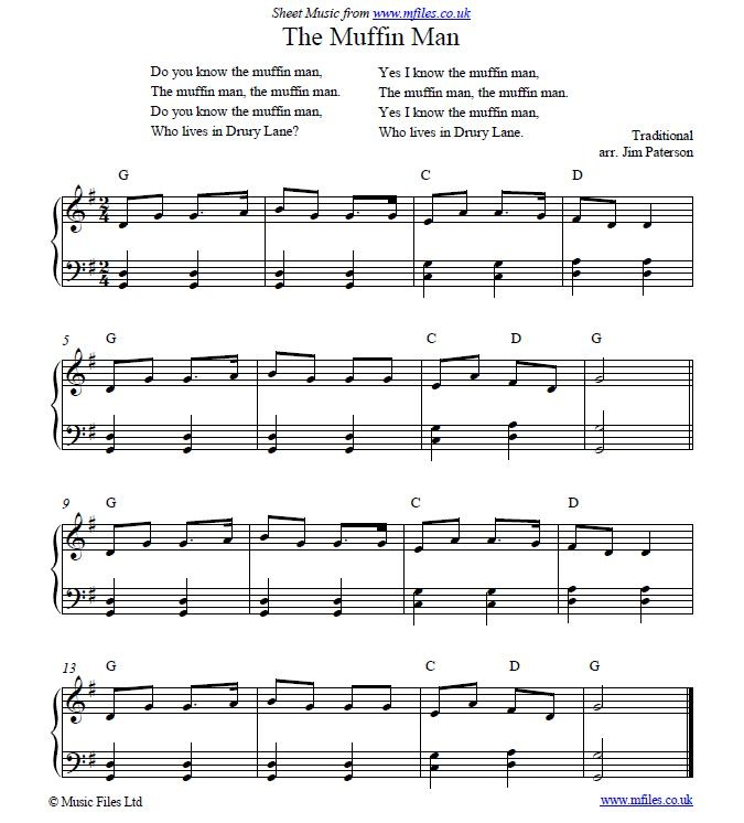 Nursery Rhymes Music Sheet Thenurseries