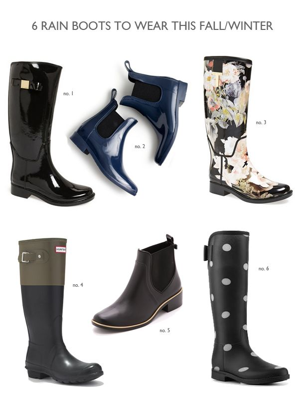 Rain Boots To Wear This Fall And Winter