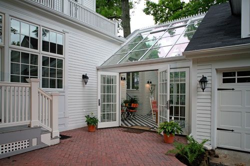 Best 25 garage roof ideas on pinterest carriage house for Detached sunroom