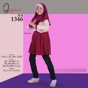 Baju Blus Anak Rahnem  AA-1346 Maron - Promo Ramadhan Sale