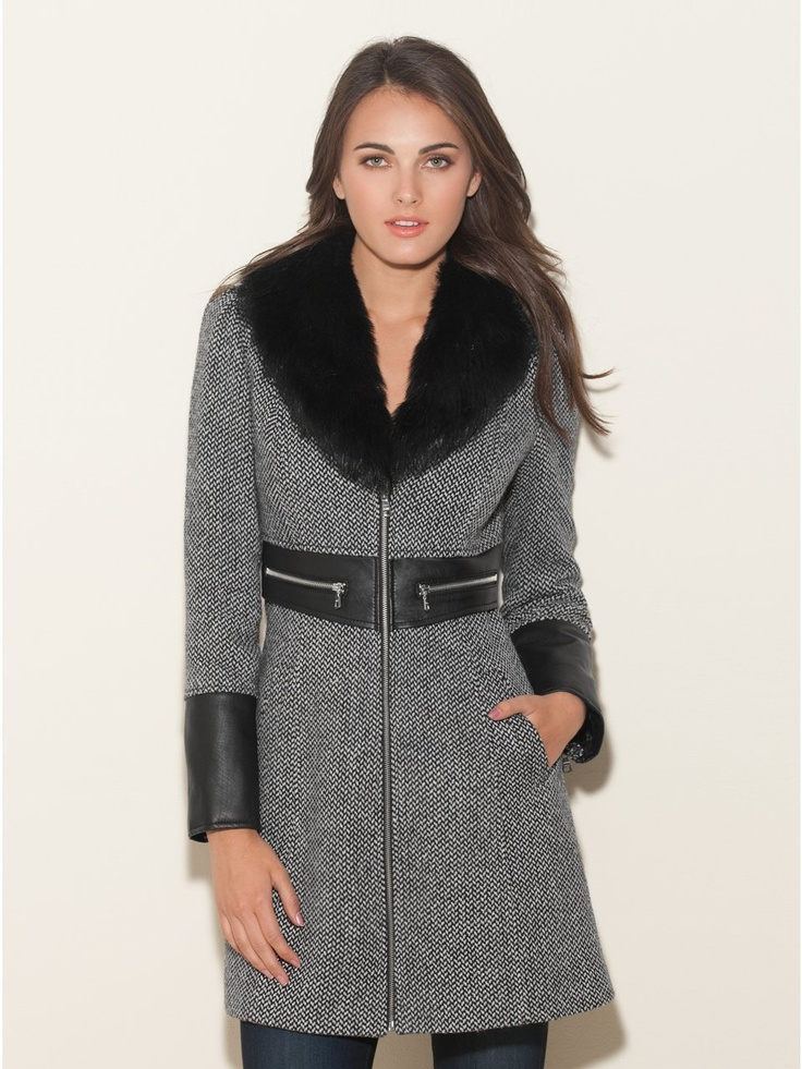 Define your cold-weather style with this undeniably chic tweed coat. Its trend-right faux-fur collar and faux-leather trim add the stand-out appeal you love. http://www.amazon.com/dp/B009ITTBV8/?tag=pinterest0e50-20