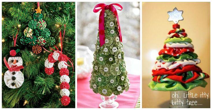 Angelitos navideños fáciles de hacer con retazos de tela ~ cositasconmesh