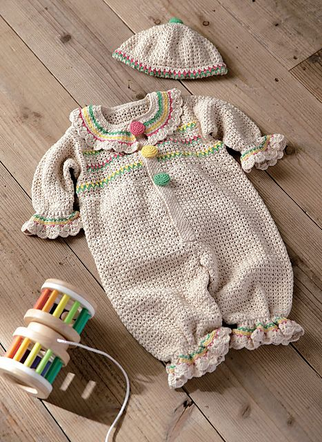 Pierrot Yarn Free Crochet Patterns : Ravelry: 214ss-24 Marshmallow Cotton Coverall pattern by ...