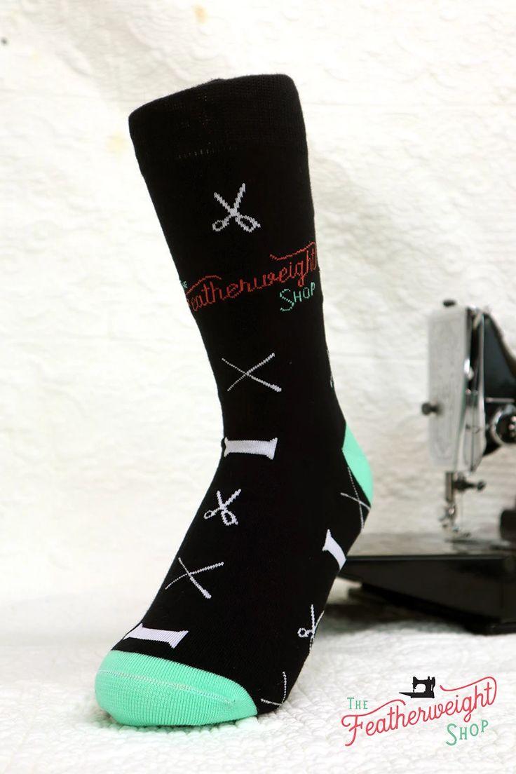 Quilt Socks, Notions Black – Featherweight Shop Design