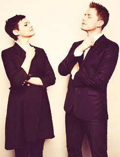 Once Upon A Time Ginnifer Goodwin & Josh Dallas... they are so cute!