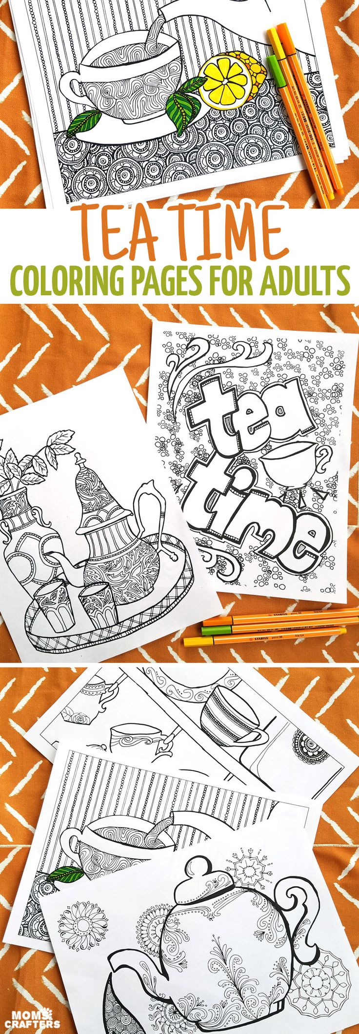 435 best coffee tea coloring pages for adults images on