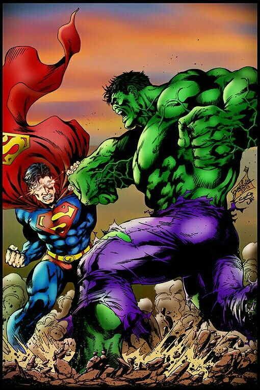 #Hulk #Fan #Art. (Superman X Hulk) By: Alesampa. (The * 5 * STAR * AWARD * OF * ÅWESOMENESS!!!™)