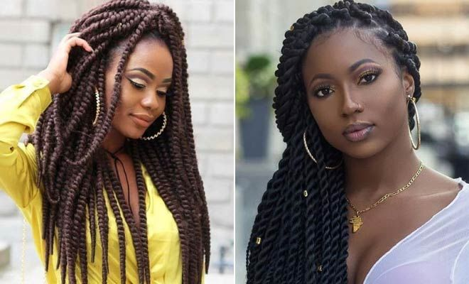 Black Long Hair Style: 23 Eye-Catching Twist Braids Hairstyles For Black Hair
