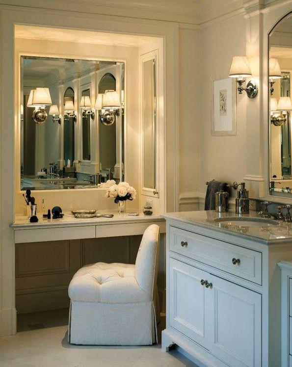 Powder Makeup Looks Cakey Like Makeup Geek Afterpay When Makeup Artist Chair Half Makeup Bathroom Vanity Designs Bathroom With Makeup Vanity Gorgeous Bathroom