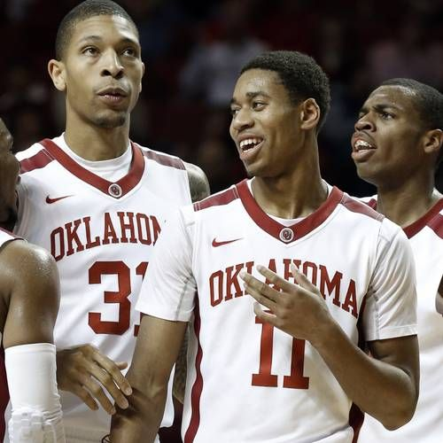 The first USA Today men's basketball coaches poll was released on Thursday, and Oklahoma is one of four Big 12 schools ranked in the top 25.   The Sooners are ranked 19th in the country, receiving 237 votes. The Big 12 has two teams in the top 10 in league favorite Kansas (No. 5) and No. 10 Texas.   No. 14 Iowa State is the other Big 12 school in the initial top 25.   Kentucky is the No. 1 team to start the season, receiving 24 of a possible 32 first-place votes, followed by Arizona (three…