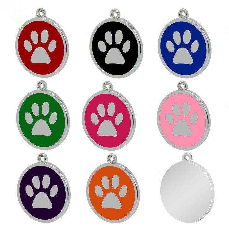 Custom ENGRAVED PET TAG Personalized Dog ID Charm IDENTIFICATION Cat ID 8pcs/lot #Herohoang