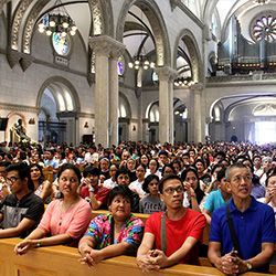 Mass at the Manila Cathedral
