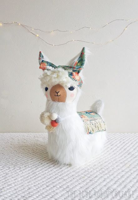 lulu llama sewing pattern made by Blue Robin Cottage.  Pattern by Gingercake