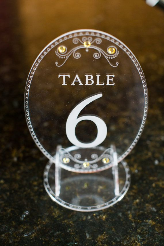 Acrylic Laser Engraved Table Numbers by ElegantLaserDesigns