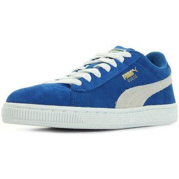 iconische Puma suede jr jongens sneakers (Blauw)