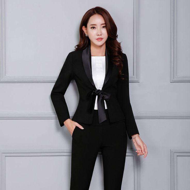 Женский брючный черный костюм женский фрак женский смокинг купить на AliExpress